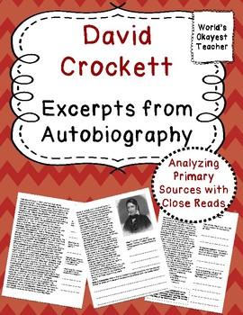 David Crockett: Primary Source Excerpt from Autobiography