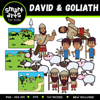David And Goliath Digital Clipart