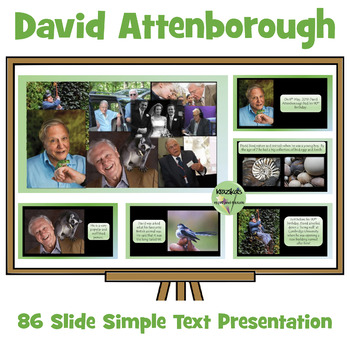David Attenborough PowerPoint Simple Text - 8th May - 90th Birthday