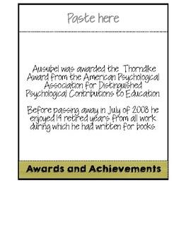 Psychologist David Ausubel Flipbook