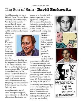 David Berkowitz - The Son of Sam w/key