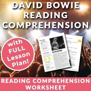 David Bowie - Reading Activity with FULL lesson plan.