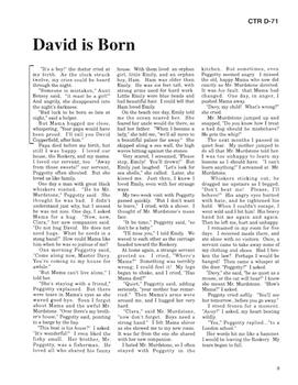David Cooperfield 10 Chapter Reader
