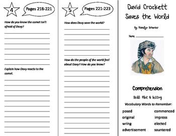 David Crockett Saves the World Trifold - California Treasures 5th Gr Un 2 Week 4