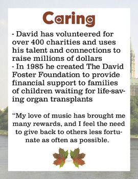 David Foster - Canadian Musician / Composer of the Month Bulletin Board Set