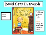 David Gets in Trouble. Y-end words, Phonemic Awareness