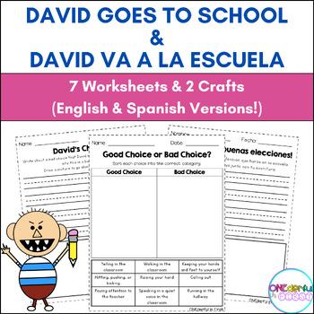 David Goes To School & David va a la escuela - Activities and Crafts