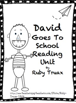 David Goes To School Reading Unit By Ruby Truax Teachers No David Coloring Pages