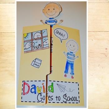 David Goes to School Lapbook