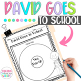 David Goes to School Book Study, Back to School, First Week of School, Rules