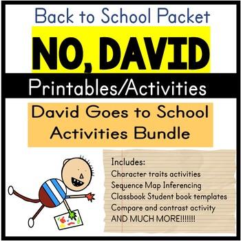 David Goes to School Activity Bundle