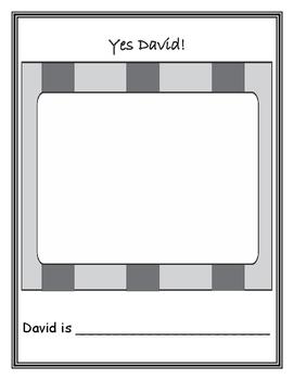 David Goes to School Class Book, Yes David!