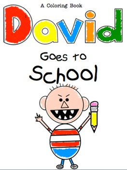 David goes to school coloring book by reading girl xoxo for No david coloring page
