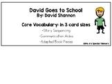 David Goes to School Core Vocabulary