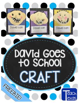 David Goes to School Craft FREEBIE