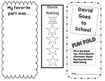 David Goes to School Fun Fold