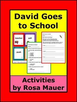 David Goes to School Literacy Activities