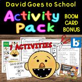David Goes to School - Minibook Plus Five Activities