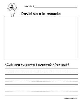 David Goes to School in Spanish (David va a la escuela)