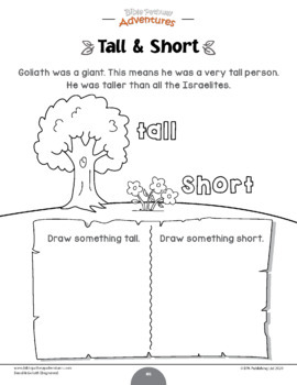 David & Goliath Activity Book for Kids Ages 3-5
