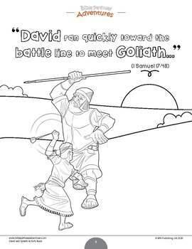 David & Goliath Activity Pack FREEBIE