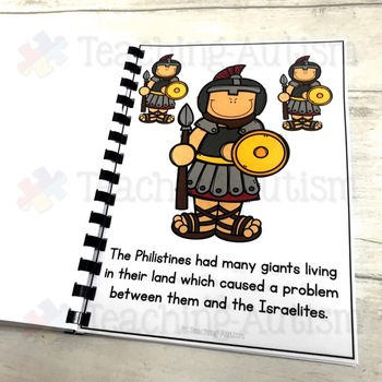 David & Goliath Bible Story Flashcard Story