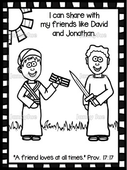 David Amp Jonathan Craft Page Bible Craft For Kids By