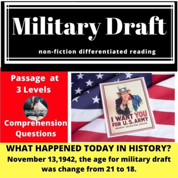 Military Draft Differentiated Reading Passage, November 13