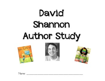 David Shannon Author Study Booklet