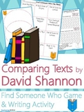 David Shannon Author Study {NO PREP Writing Activities & Game}