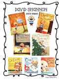 David Shannon Author Study Unit and Math/ Literacy Center Bundle