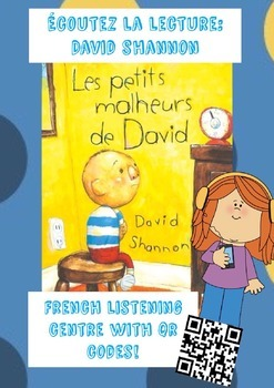 David Shannon French Listening Centre FREEBIE {with QR codes}!