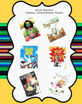 David Shannon Literacy Activity Packet & Assessments