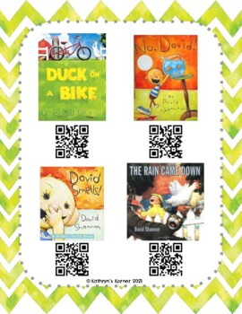 David Shannon QR Read-Alouds (Listening Center)
