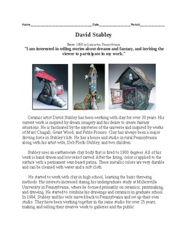 David Stabley Worksheet