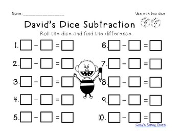 David Themed Literacy and Math Center Activities, Plus Fine Motor and STEM