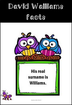 Reading Factfile about David Walliams