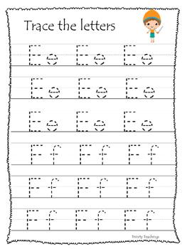David and Goliath A-Z Tracing preschool Bible curriculum worksheet. Christian
