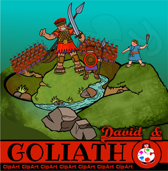 David and Goliath Bible Story Clip Art