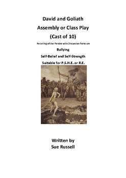 David and Goliath Class Play, Guided Reading or Readers Theater script