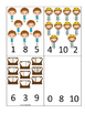 David and Goliath Count and Clip preschool Bible curriculum game. Christian math