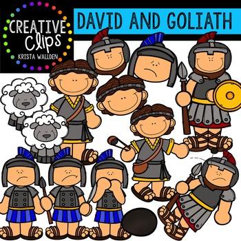 David and Goliath {Creative Clips Digital Clipart}