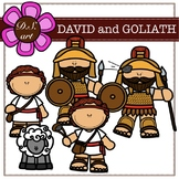 David and Goliath Digital Clipart (color and black&white)