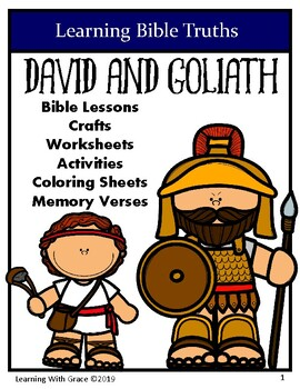 David and Goliath - Learning Bible Truths-Crafts, Activities, Worksheets & More