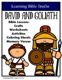 David and Goliath - Learning Bible Truths-Crafts, Activiti