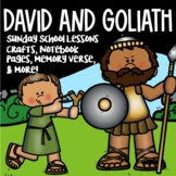 David and Goliath Sunday School Lessons   Interactive Note