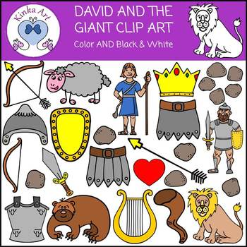David and the Giant Goliath Clip Art