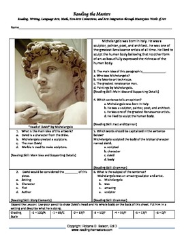 "Intervention & Test Prep with ""David"" by Michelangelo"