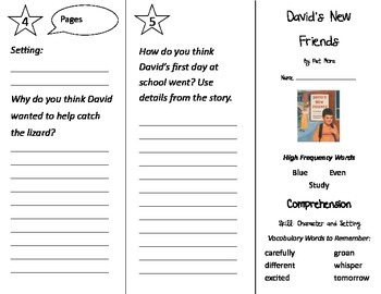 David's New Friends Trifold - Treasures 2nd Grade Unit 1 Week 1 (2009)