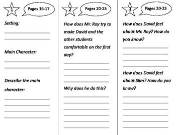 David's New Friends Trifold - Treasures 2nd Grade Unit 1 Week 1 (2009)